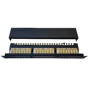 Cat6A FTP Patch Panel 24-Port cover