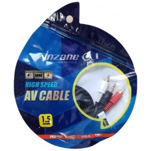 01.037.0464 - 3,5mm stereo plug to 2RCA plug cable,1.5m bag