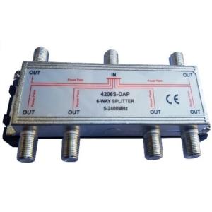 4206S-DAP - 6 way 2.4 GHz splitter - 2
