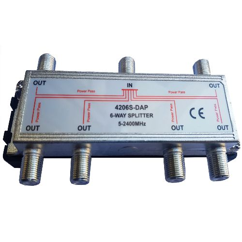 4206S-DAP - 6 way 2.4 GHz splitter - 2