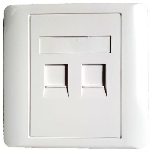 Network faceplate 2x Ports