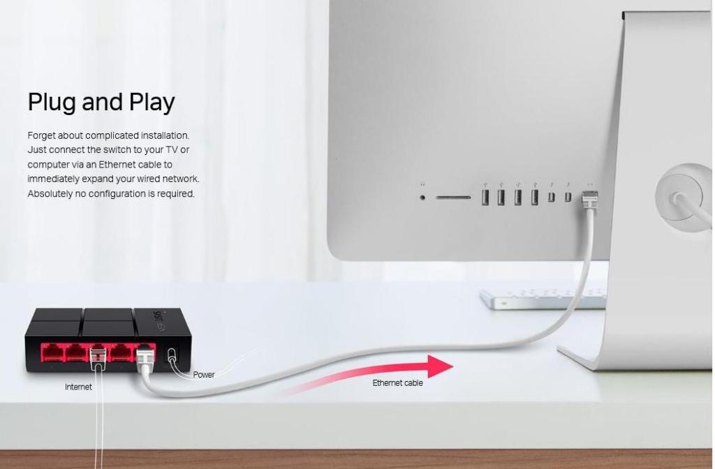 5 port Gigabit Ethernet Switch